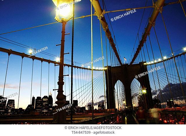 Brooklyn Bridge in the Evening