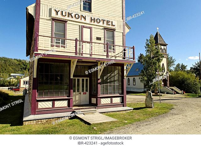 Historic hotel at Dawson City, Yukon, Canada