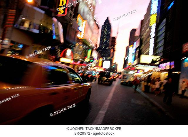 USA, United States of America, New York City: Times Square. 42nd Street