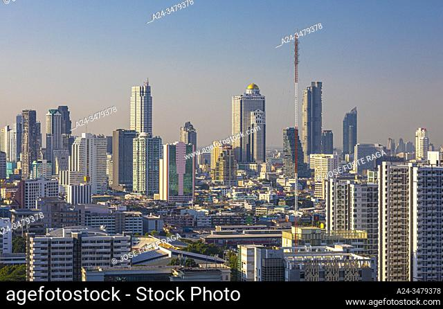 Thailand, Bangkok City, down town, Bangrak distric sky line