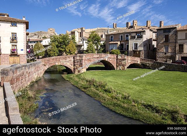 Puente Viejo, Molina de Aragón, province of Guadalajara, Spain,
