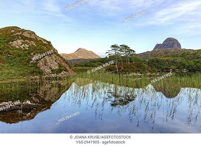 Loch Druim Suardalain, Assynt, Sutherland, Scotland, United Kingdom