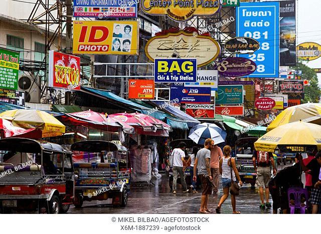Traffic  Khao San street  Bangkok  Thailand