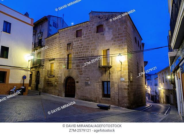 Palacio del Duque de Abrantes. Ciudad de Cáceres. Extremadura. España. Patrimonio de la Humanidad. Conjunto histórico artístico