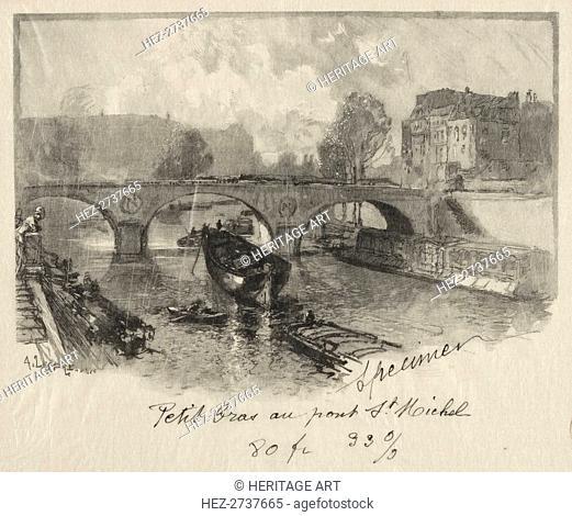 Petit bras au Pont St. Michel . Creator: Auguste Louis Lepère (French, 1849-1918)