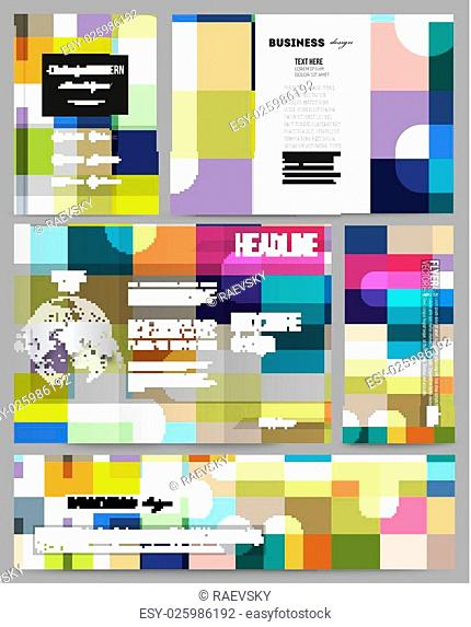 Set of business templates for presentation, brochure, flyer or booklet. Abstract colorful business background, modern stylish vector texture