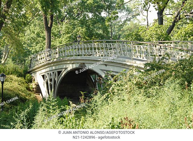 Gothic Bridge. Central Park. Manhattan, New York, New York. USA