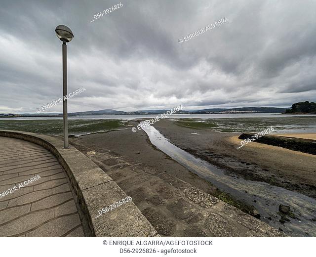 Sada beach, Ourense, Galicia, Spain