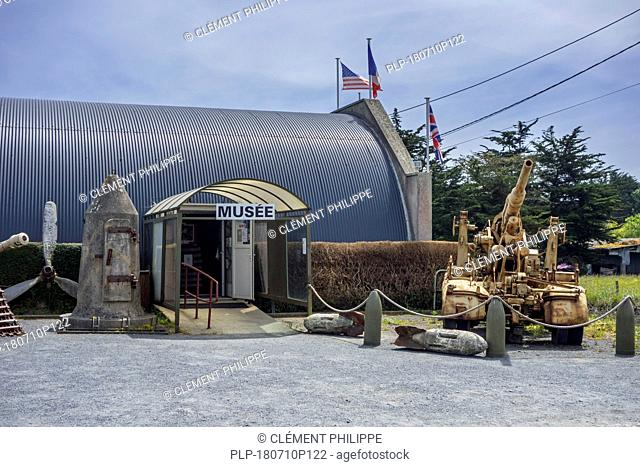 Entrance of the World War Two D-Day Omaha Museum at Vierville-sur-Mer, Calvados, Normandy, France