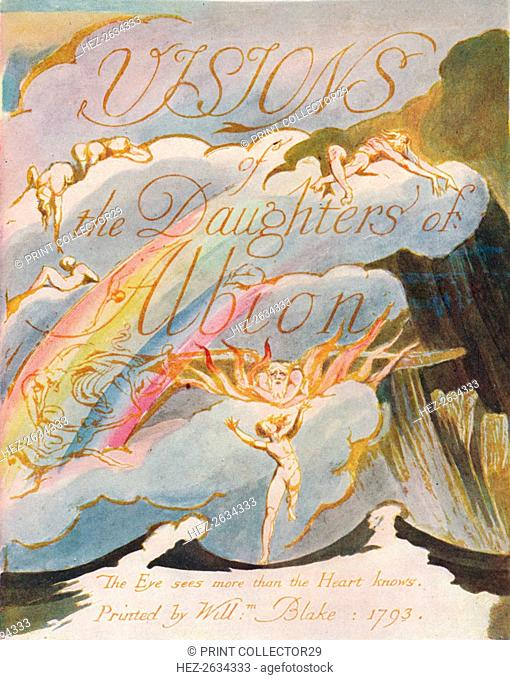 'Visions of the Daughters of Albion', 1793. Artist: William Blake