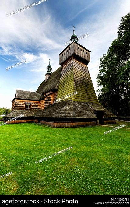 Europe, Poland, Podkarpackie Voivodeship, Wooden Architecture Route, Assumption of Holy Mary Church, Haczow
