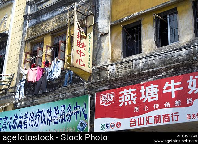 CHINA Views of the old quarter in Guangzhou, Guangdong province, with traditional Cantonese architecture. Photo by Julio Etchart