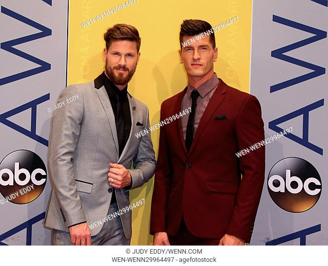 The 50th Annual CMA Awards Arrivals at Music City Center in Nashville, TN Featuring: High Valley Where: Nashville, Tennessee