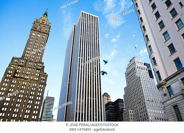 From left to right: Sherry Netherland Hotel and Apple store. 5th Avenue, Midtown, Manhattan, New York City, USA