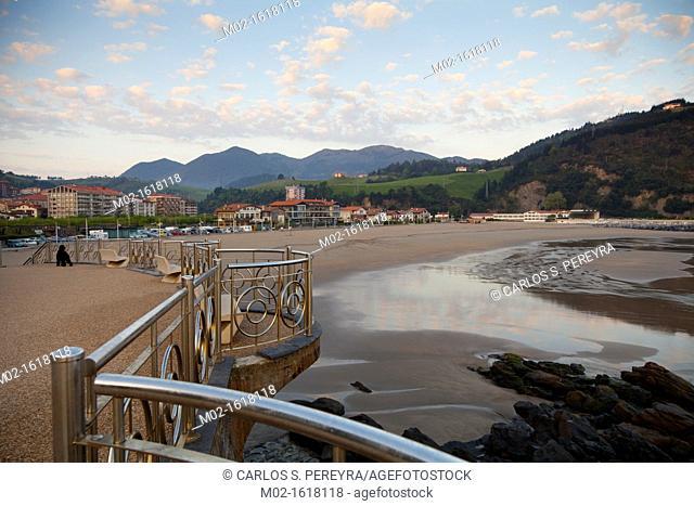 View of Deba, Guipuzcoa, Basque Country, Spain