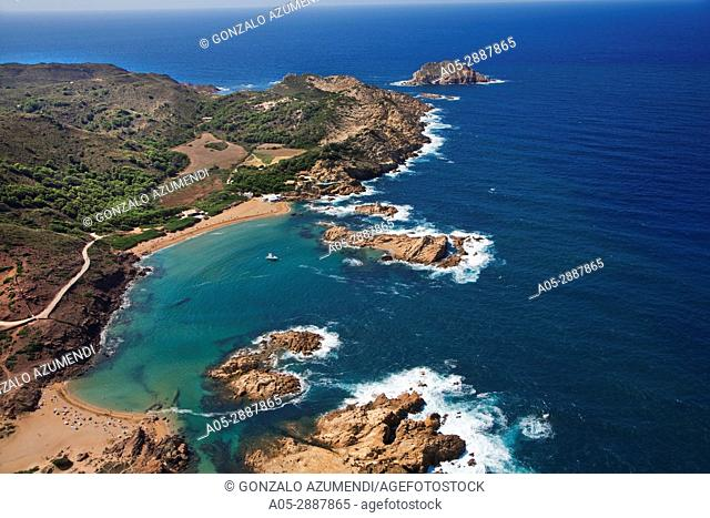 Cala Pregonda. Pregonda Beach. Menorca. Minorca. Islas Baleares. Balearic Islands. Spain
