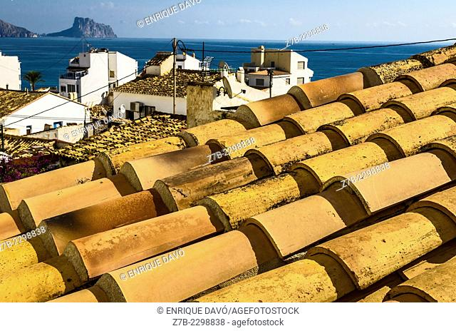 Perspective view of Altea town, Alicante province, Spain