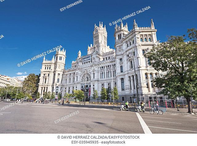 Cibeles Palace (City Hall) on November in Madrid, Spain