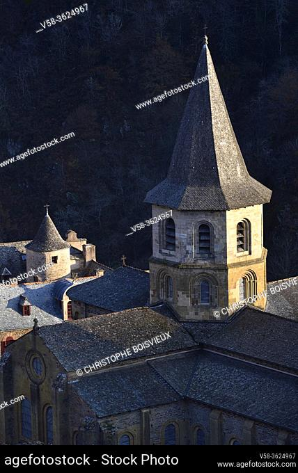 France, Aveyron, Unesco World Heritage Site, Conques, Abbey church of Sainte-Foy (11-12th C)
