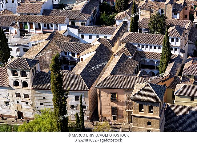 View of Granada from the Alhambra, Andalusia, Spain