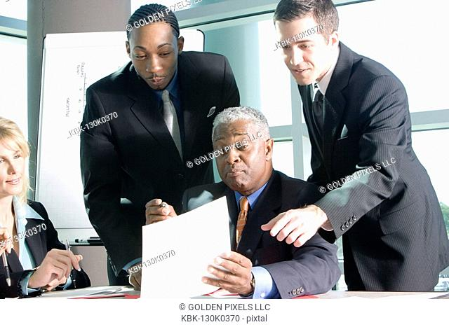 Business colleagues in a meeting