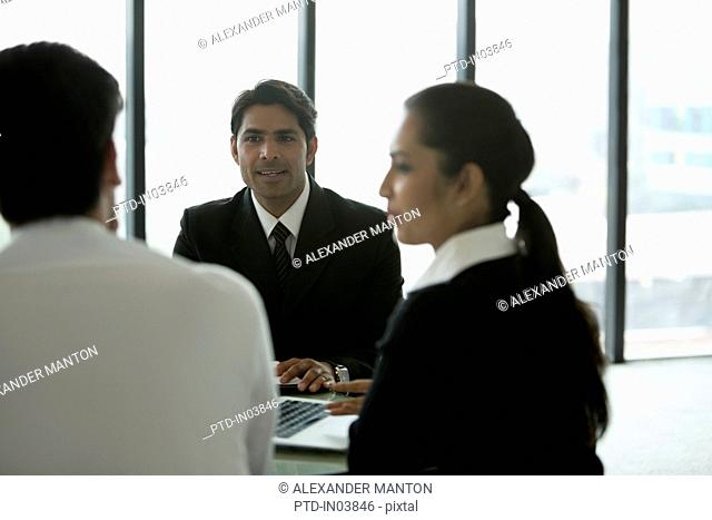 India, Business people on meeting in office