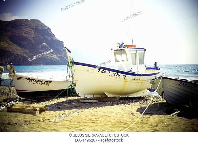 Boats in Las Negras, Cabo de Gata, Almeria