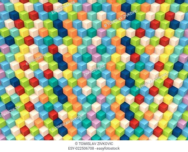Op Art Cubes Pattern