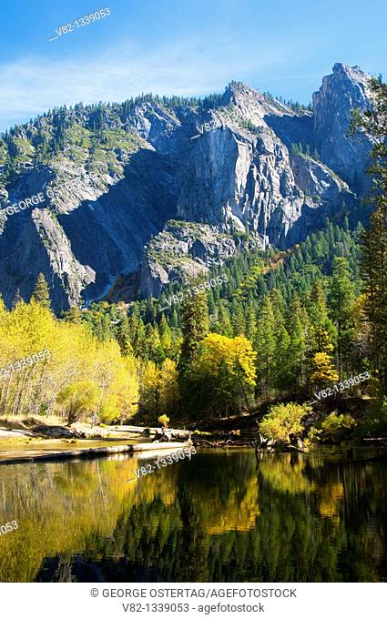 Merced River through Yosemite Valley, Yosemite National Park, California