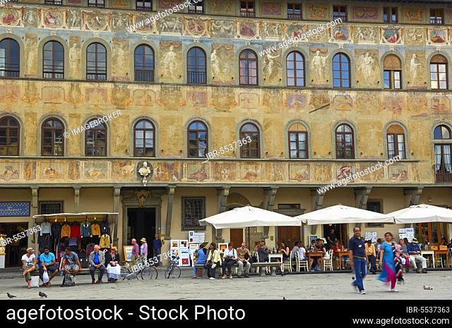 Santa Croce Square, Piazza di Santa Croce, Florence, Tuscany, Italy, Europe