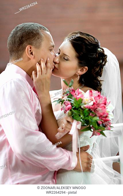 newly married couple, Stock Photo, Picture And Royalty Free