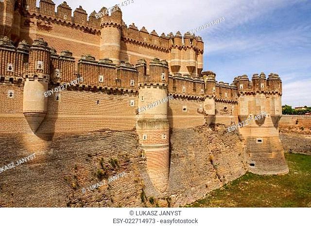 Coca Castle (Castillo de Coca) is a fortification constructed in the 15th century and is located in Coca, in Segovia province, Castilla y Leon, Spain