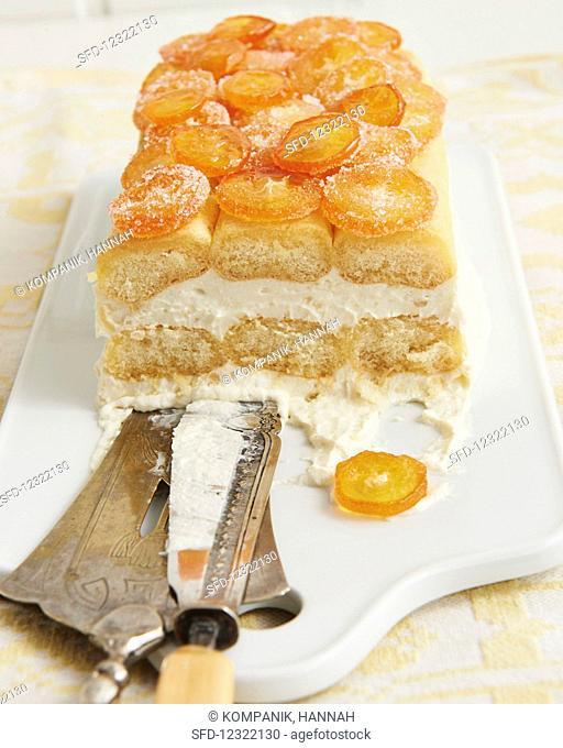 Tiramisu with candied kumquats