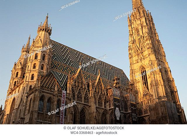 Vienna, Austria, Europe - St. Stephen's Cathedral also known as Stephansdom at the Viennese Stephansplatz square