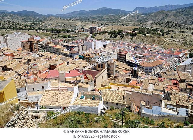 View over the town, Xixona, Jijona, La Vila Joiosa, Villajoyosa, Costa Blanca, Alicante, Spain, Europe