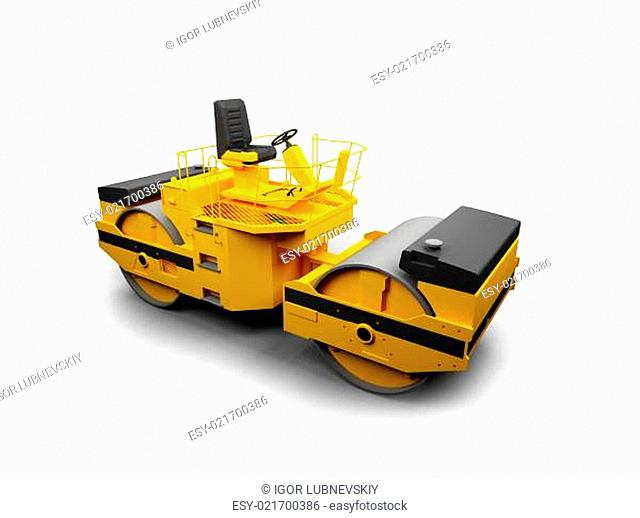 isolated heavy machine front view 01