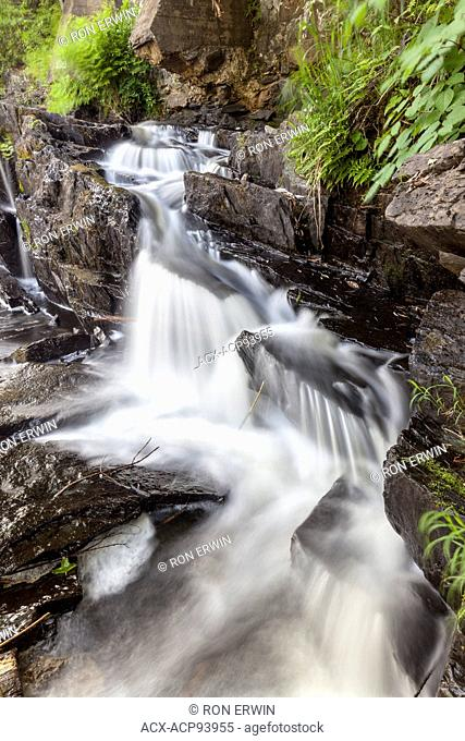 Waterfalls at the dam in Flinton Conservation Area, Ontario
