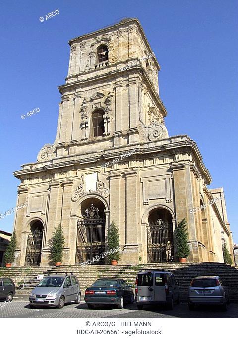 Church Maria SS. della Visitazione, Via Roma, Enna, Agrigent, Sicily, Italy, cathedral, Chiesa Madre, Duomo di Maria SS. della Visitazione
