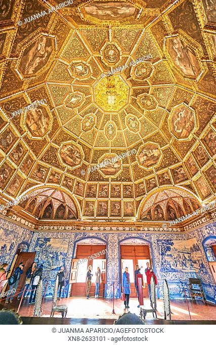 Blazons Hall in the National Palace, Sintra, Lisbon, Portugal, Europe