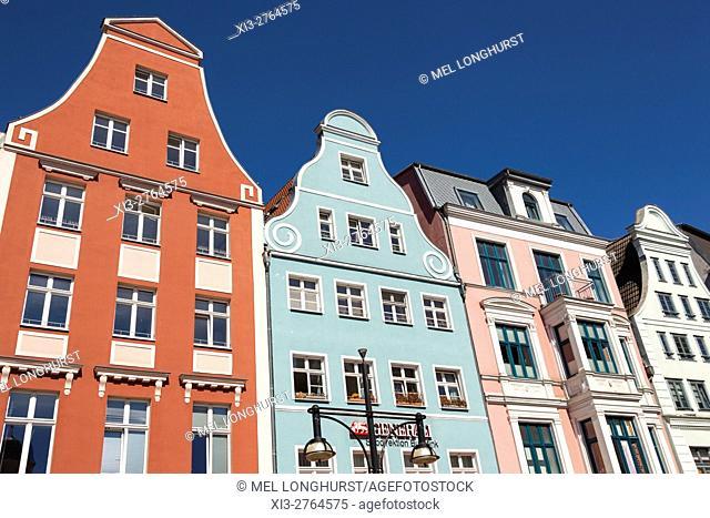 Buildings in Kropeliner Strasse, Rostock, Mecklenburg-Vorpommern, Germany
