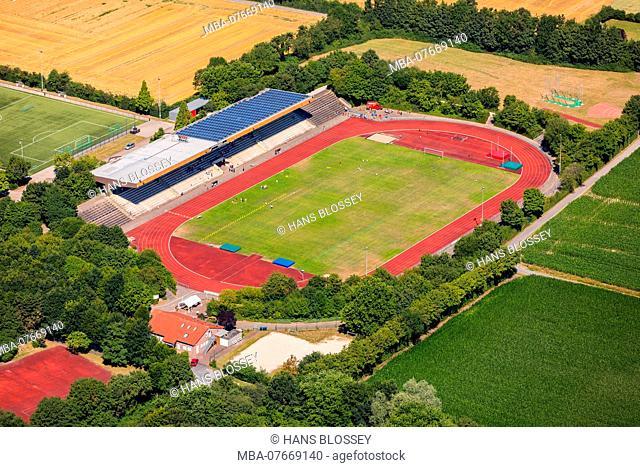 Sportpark Nord Otto-Schott-Strasse, HLZ Ahlen GmbH, football stadium Ahlen, Ruhrgebiet, North Rhine-Westphalia, Germany