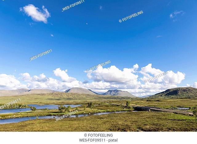 Great Britain, Scotland, Scottish Highlands, Glencoe, Rannoch Moor, Loch Ba