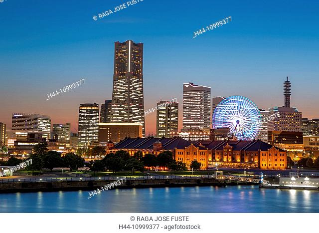 Japan, Yokohama, City Skyline, Landmark Building