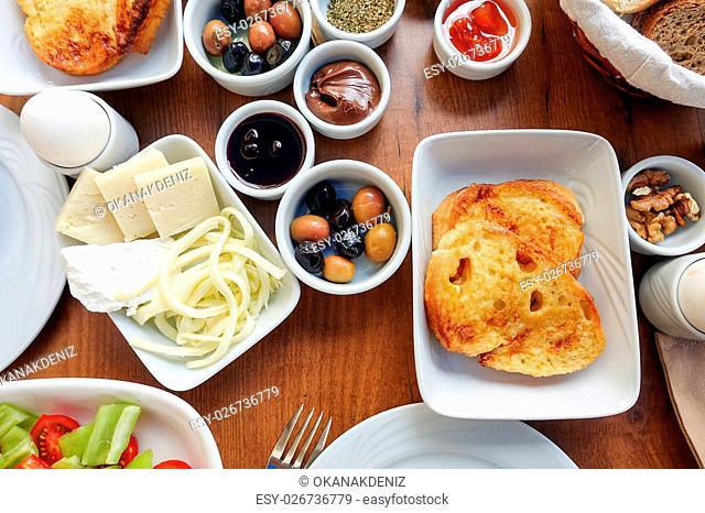 Traditional Rich Turkish Breakfast