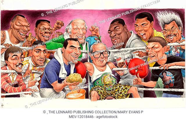 Mike Tyson, Chris Eubank, Henry Cooper, Frank Bruno, Mohammed Ali, Don King, Barry McGuigan, Amir Khan, Joe Calzaghe, Harry Carpenter
