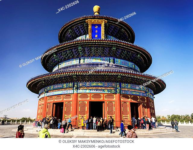 The Temple of Heaven, Hall of Prayer for Good Harvests in Beijing, China 2014