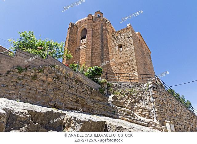 Jerica village in Alto Palancia Valencian community Spain. The mudejar belfry tower