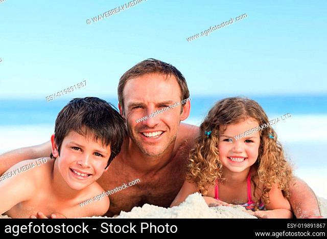 Children with their father