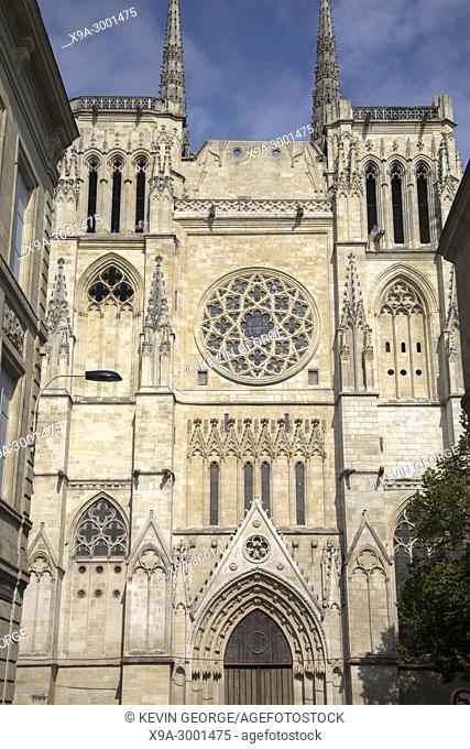 Cathedral Church Facade, Bordeaux; France