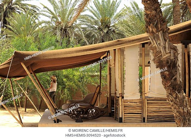 Morocco, Anti Atlas, Guelmim Oued Noun region, Guelmim Province, rural district of Asrir, Tighmert palm grove, Dar Ahlam, Dream Houses, Southern Route
